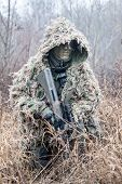 pic of armor suit  - Jagdkommando soldier Austrian special forces wearing a ghillie suit - JPG