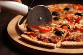stock photo of tables  - Pizza cutter  - JPG