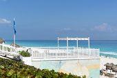 image of yucatan  - A view of Cancun beach on the Yucatan - JPG
