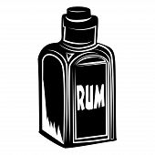 picture of smuggling  - Illustration of a bottle of red rum - JPG