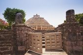 stock photo of ashoka  - Great Stupa Built By Ashoka The Great At Sanchi - JPG