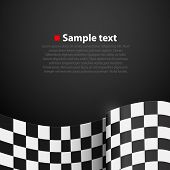 picture of motocross  - Racing checkered finish flag vector on dark background - JPG