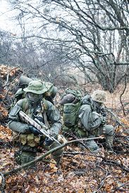 image of raid  - Group of jagdkommando soldiers Austrian special forces during the raid  - JPG