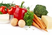 picture of nutrients  - Group of nutrients full of vitamin A on white background - JPG