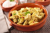 image of curry chicken  - chicken and curry sauce - JPG