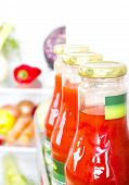 foto of refrigerator  - Part of a refrigerator full of different fresh food products - JPG