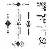 stock photo of tribal  - Set of vector Tribal elements - JPG