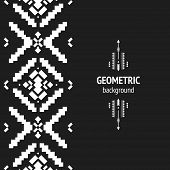 pic of aztec  - Vector Geometric background - JPG