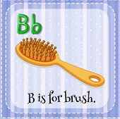 picture of letter b  - Flashcard letter B is for brush - JPG