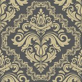 pic of damask  - Oriental vector fine texture with damask - JPG