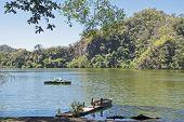 stock photo of wilder  - Laguna La Maria wilderness lake in Colima Mexico - JPG