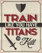 stock photo of killing  - Retro Style Poster with a Motivation Idea - JPG