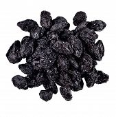 stock photo of prunes  - Heap of prunes on a white background - JPG