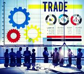 stock photo of bartering  - Trade Merchandise Import Export Commerce Concept - JPG