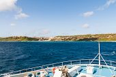 image of gozo  - Sailing to port of Mgarr on the small island of Gozo Malta - JPG