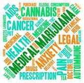 stock photo of medical marijuana  - Medical marijuana word cloud on a white background - JPG