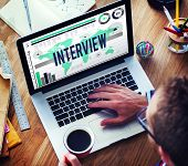 image of interview  - Interview Interviewer Information Ideas Report Concept - JPG