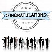 image of congratulations  - Congratulations Achievement Celebration Admiration Concept - JPG