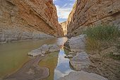 picture of bend  - Deep in Santa Elena Canyon in Big Bend National Park in Texas - JPG