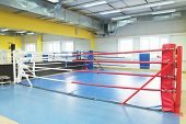 stock photo of boxing ring  - The image of a boxing ring - JPG