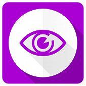 foto of pink eyes  - eye pink flat icon view sign  - JPG