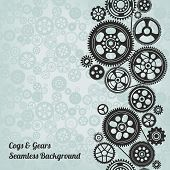 picture of cogwheel  - mechanism background with cogwheels and gears vector illustration - JPG