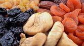 image of prunes  - Various dried fruits  - JPG
