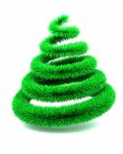 Abstract Furry Christmas Tree poster