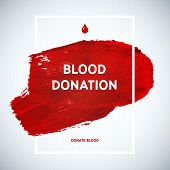 stock photo of blood  - Creative Blood Donor Day motivation information donor poster - JPG