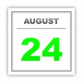 stock photo of august calendar  - August 24 - JPG