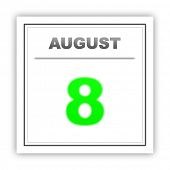 picture of august calendar  - August 8 - JPG