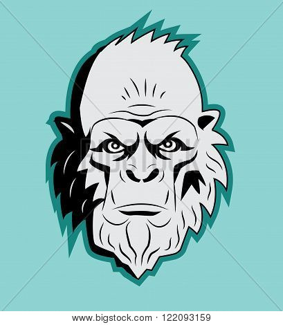 Yeti Bigfoot Head