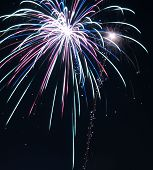 foto of guy fawks  - fireworks during guy fawkes night in liverpool - JPG