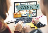 Постер, плакат: Inventory Stock Manufacturing Assets Goods Concept