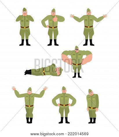 Soviet Soldier Set Poses Retro