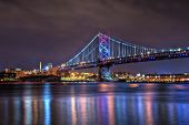 Benjamin Franklin Bridge At Night