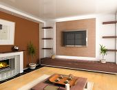 pic of home theater  - modern interior design  - JPG