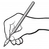 picture of storyboard  - Hand with pencil - JPG