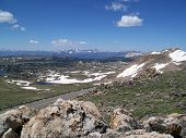 stock photo of beartooth  - View from Summit of Bear Tooth Pass - JPG