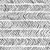 Vector Black White Herringbone Seamless Pattern. Watercolor, Ink Background. Scandinavian Design, Fa poster