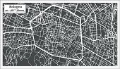 Bologna Italy City Map in Retro Style. Outline Map. poster