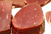 picture of beef wellington  - Uncooked raw beef roast ready for seasoning sliced or whole - JPG