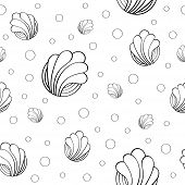 Seamless Pattern On A White Background With Interesting Patterns. Cheerful Abstract Seamless Pattern poster