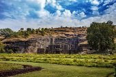 Kailash Temple In Ellora. General View Of The Temple From The Entrance. The Kailash Temple Is A Stan poster