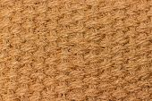 Background Texture Of Natural Material Matting, Cannabis Hemp Fiber. Material Woven From Natural Hem poster