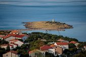 Croatian Town Klenovica. View Of Adriatic Sea Early Morning poster