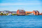 Copenhagen Historical Warehouses Viewed From Copenhagen Opera House. poster