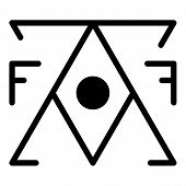 Mystery Alchemy Pyramid Icon. Outline Mystery Alchemy Pyramid Vector Icon For Web Design Isolated On poster