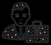 Glossy Mesh Ton Accounter With Glitter Effect. Abstract Illuminated Model Of Ton Accounter Icon. Shi poster