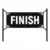 Finish Gate Icon. Simple Illustration Of Finish Gate Vector Icon For Web Design Isolated On White Ba poster
